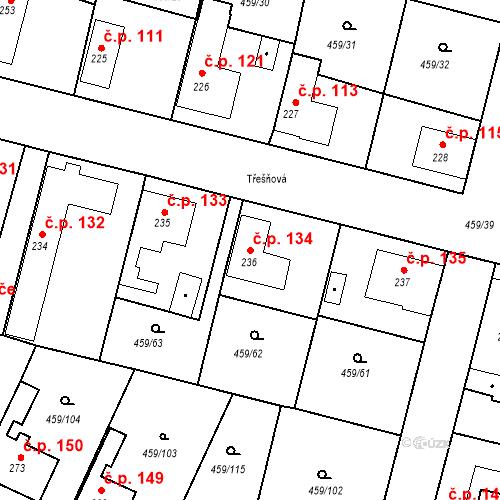 Katastrální mapa Stavební objekt Bobnice 134, Bobnice