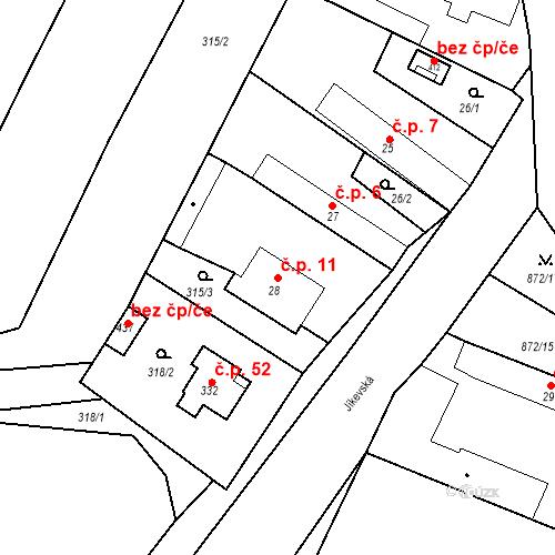 Katastrální mapa Stavební objekt Bobnice 11, Bobnice