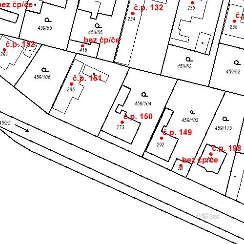 Katastrální mapa Stavební objekt Bobnice 150, Bobnice