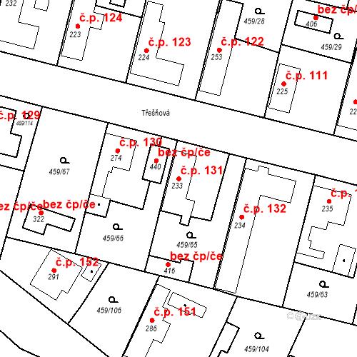 Katastrální mapa Stavební objekt Bobnice 131, Bobnice