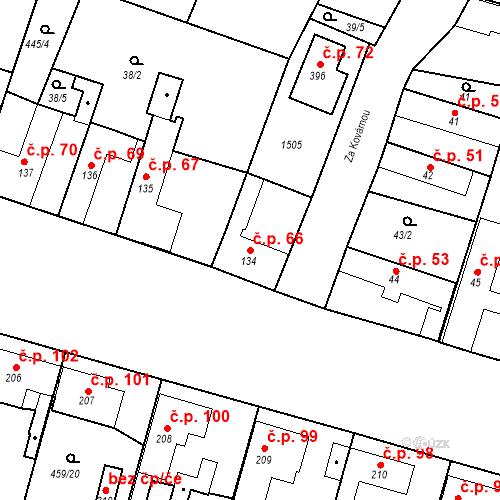 Katastrální mapa Stavební objekt Bobnice 66, Bobnice
