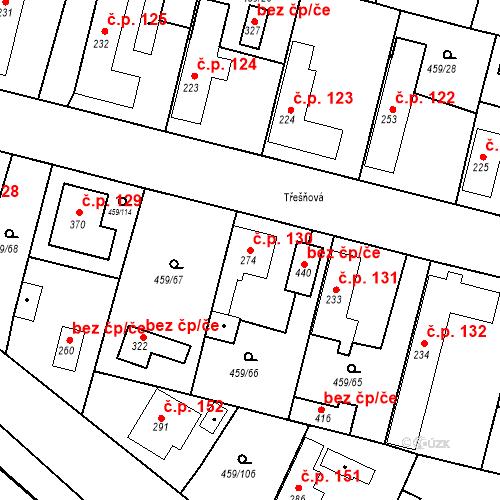 Katastrální mapa Stavební objekt Bobnice 130, Bobnice