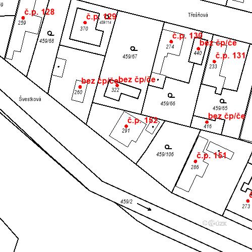 Katastrální mapa Stavební objekt Bobnice 152, Bobnice