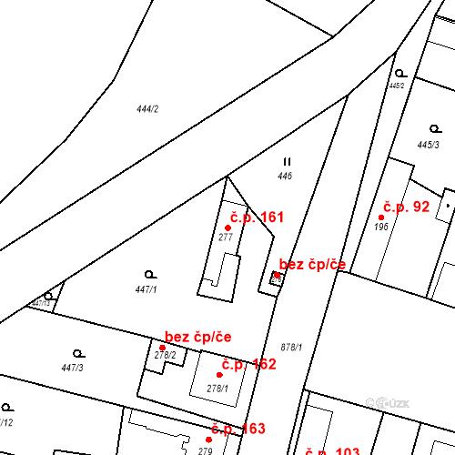 Katastrální mapa Stavební objekt Bobnice 161, Bobnice