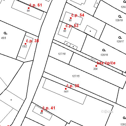 Katastrální mapa Stavební objekt Všechlapy 229, Všechlapy