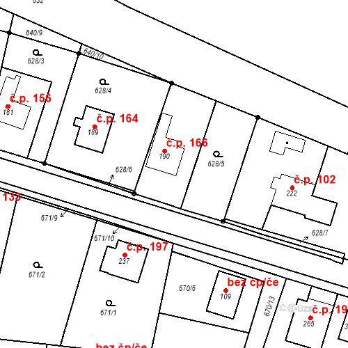 Katastrální mapa Stavební objekt Veselá 166, Mnichovo Hradiště