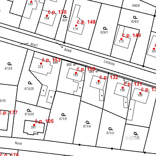 Katastrální mapa Stavební objekt Veselá 159, Mnichovo Hradiště