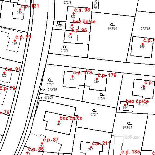 Katastrální mapa Stavební objekt Veselá 178, Mnichovo Hradiště