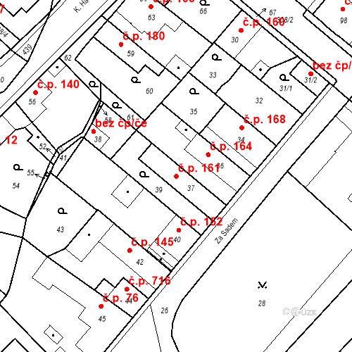 Katastrální mapa Stavební objekt Pečky 161, Pečky