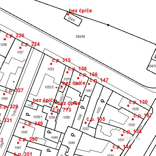 Katastrální mapa Stavební objekt Pečky 156, Pečky