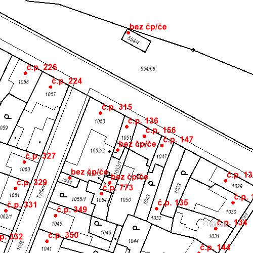 Katastrální mapa Stavební objekt Pečky 136, Pečky
