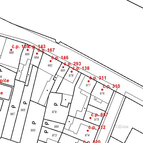Katastrální mapa Stavební objekt Pečky 138, Pečky