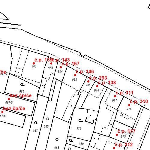 Katastrální mapa Stavební objekt Pečky 146, Pečky