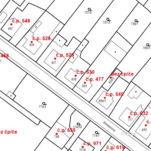 Katastrální mapa Stavební objekt Bakov nad Jizerou 530, Bakov nad Jizerou