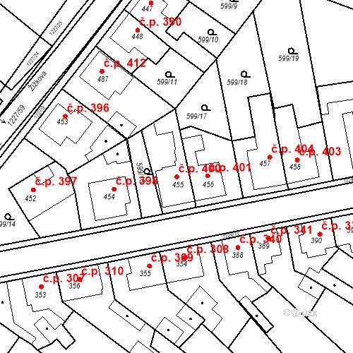 Katastrální mapa Stavební objekt Bakov nad Jizerou 400, Bakov nad Jizerou
