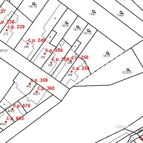 Katastrální mapa Stavební objekt Bakov nad Jizerou 258, Bakov nad Jizerou