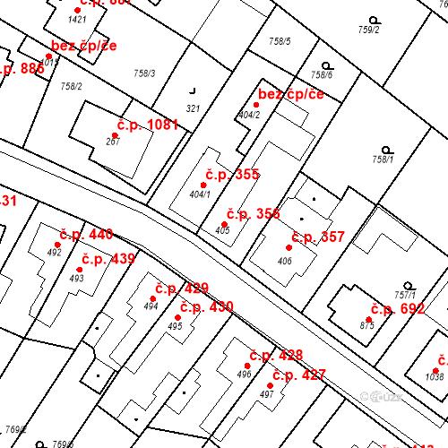Katastrální mapa Stavební objekt Bakov nad Jizerou 356, Bakov nad Jizerou
