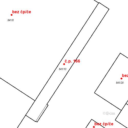 Katastrální mapa Stavební objekt Pečky 166, Pečky