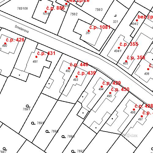 Katastrální mapa Stavební objekt Bakov nad Jizerou 439, Bakov nad Jizerou