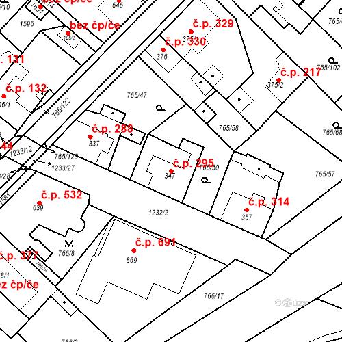 Katastrální mapa Stavební objekt Bakov nad Jizerou 295, Bakov nad Jizerou