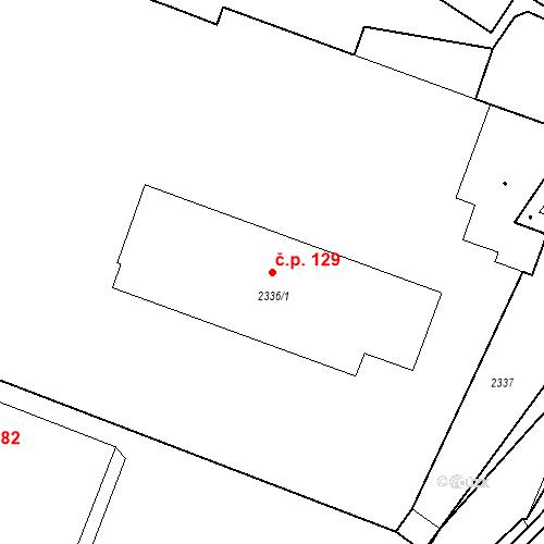 Katastrální mapa Stavební objekt Pečky 129, Pečky