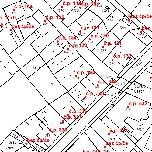 Katastrální mapa Stavební objekt Bakov nad Jizerou 194, Bakov nad Jizerou