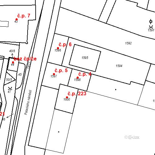 Katastrální mapa Stavební objekt Dobrovice 4, Dobrovice