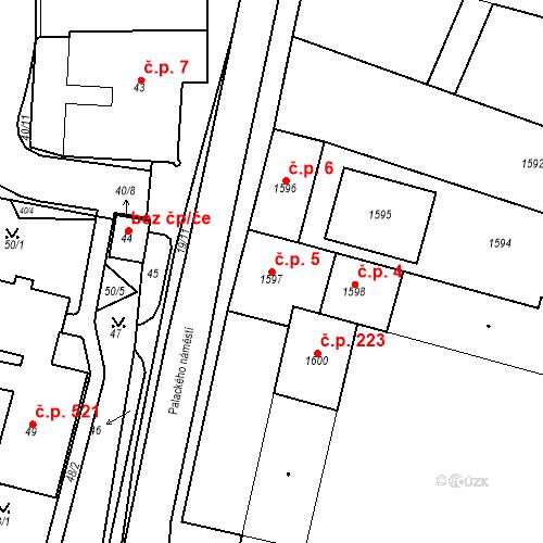 Katastrální mapa Stavební objekt Dobrovice 5, Dobrovice