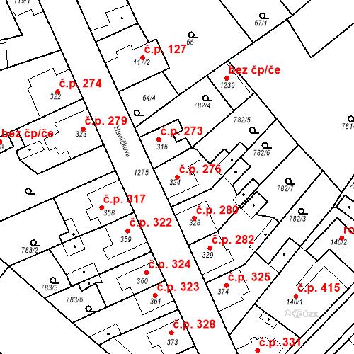 Katastrální mapa Stavební objekt Bakov nad Jizerou 276, Bakov nad Jizerou