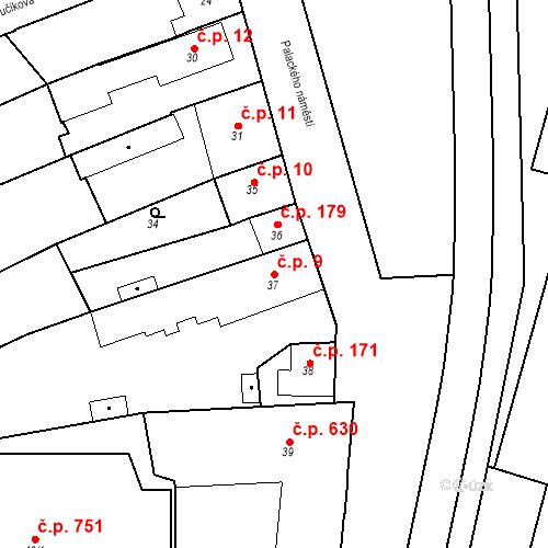 Katastrální mapa Stavební objekt Dobrovice 9, Dobrovice
