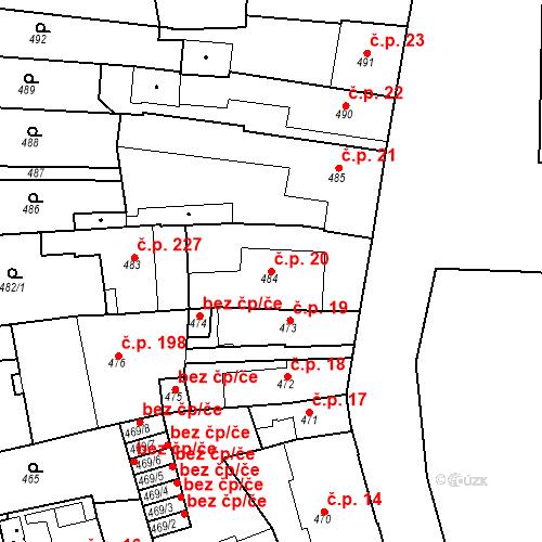 Katastrální mapa Stavební objekt Dobrovice 20, Dobrovice