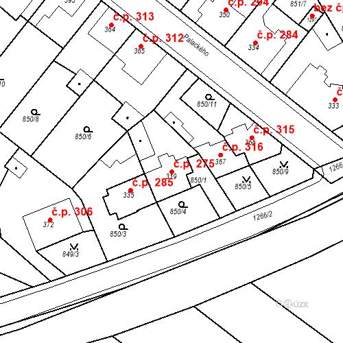 Katastrální mapa Stavební objekt Bakov nad Jizerou 275, Bakov nad Jizerou