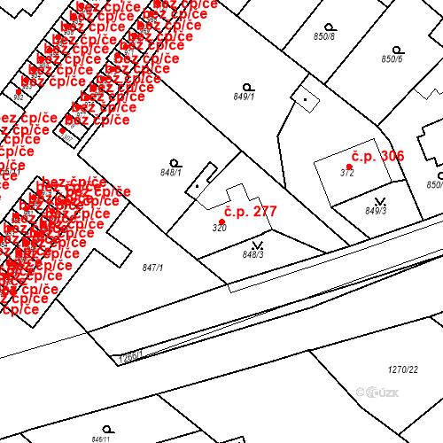 Katastrální mapa Stavební objekt Bakov nad Jizerou 277, Bakov nad Jizerou