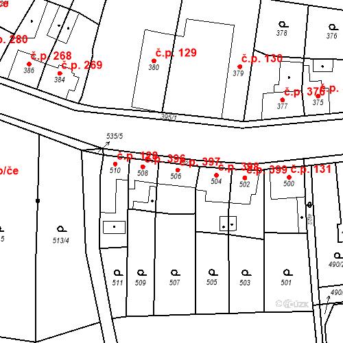 Katastrální mapa Stavební objekt Kosmonosy 397, Kosmonosy