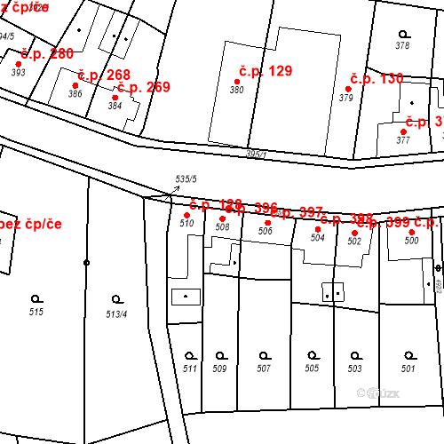 Katastrální mapa Stavební objekt Kosmonosy 396, Kosmonosy