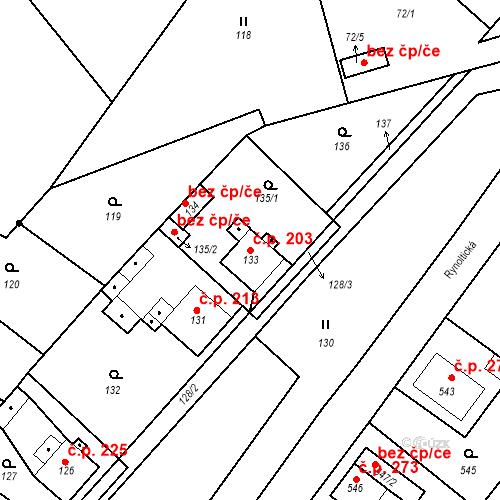 Katastrální mapa Stavební objekt Donín 203, Hrádek nad Nisou