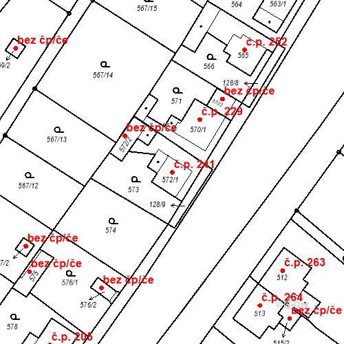 Katastrální mapa Stavební objekt Donín 241, Hrádek nad Nisou