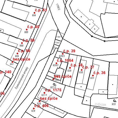 Katastrální mapa Stavební objekt Sadská 39, Sadská