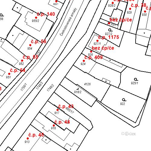Katastrální mapa Stavební objekt Sadská 41, Sadská