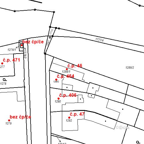 Katastrální mapa Stavební objekt Sadská 46, Sadská