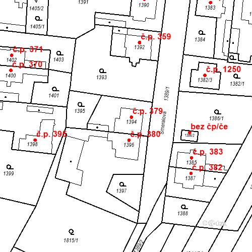 Katastrální mapa Stavební objekt Kosmonosy 379, Kosmonosy