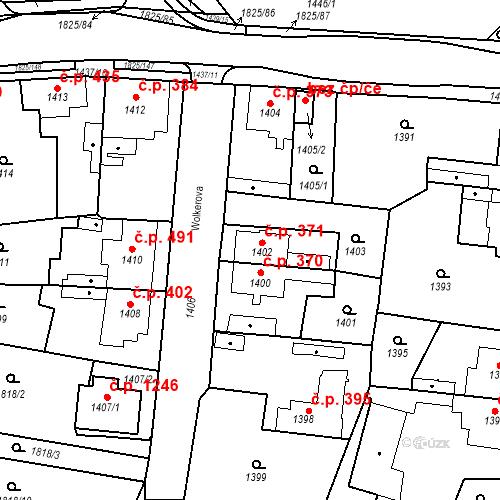 Katastrální mapa Stavební objekt Kosmonosy 371, Kosmonosy