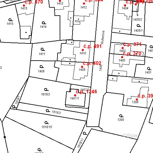 Katastrální mapa Stavební objekt Kosmonosy 402, Kosmonosy