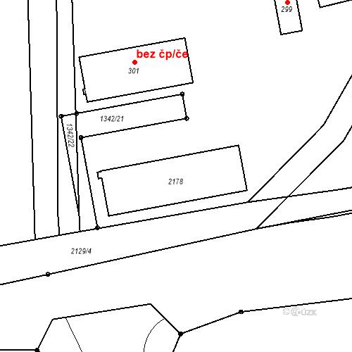 Katastrální mapa Stavební objekt Soutice 124, Soutice