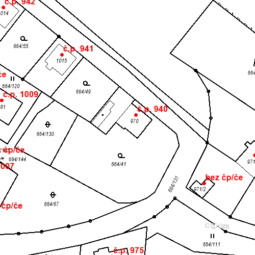 Katastrální mapa Stavební objekt Bělá pod Bezdězem 940, Bělá pod Bezdězem