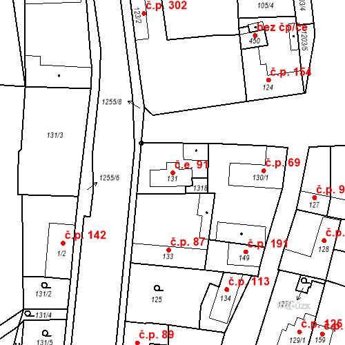 Katastrální mapa Stavební objekt Brodce 91, Brodce