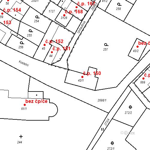 Katastrální mapa Stavební objekt Bělá pod Bezdězem 150, Bělá pod Bezdězem