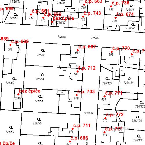 Katastrální mapa Stavební objekt Český Brod 712, Český Brod