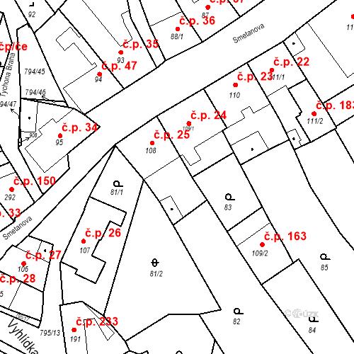 Katastrální mapa Stavební objekt Benátky nad Jizerou I 25, Benátky nad Jizerou