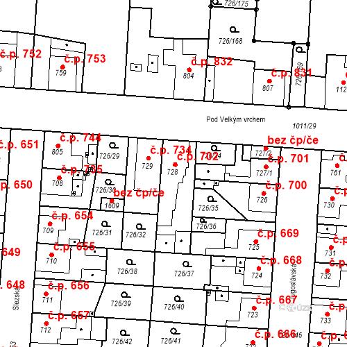 Katastrální mapa Stavební objekt Český Brod 702, Český Brod
